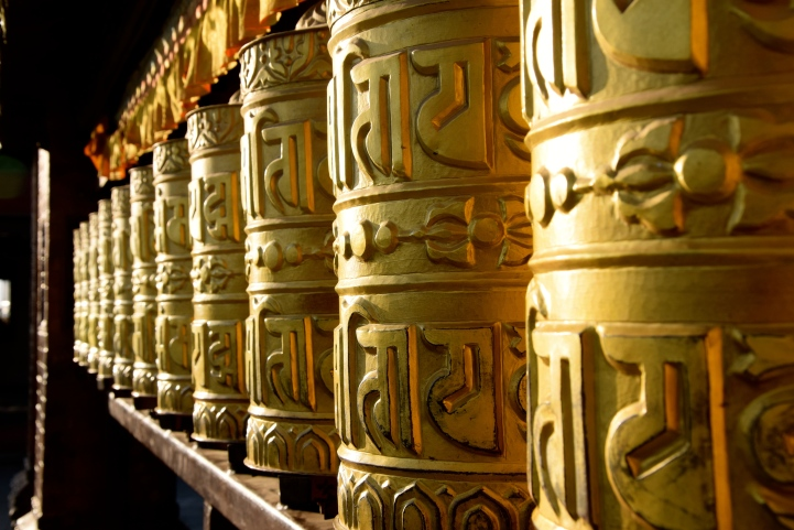 Prayer wheels, Nepal, 2017